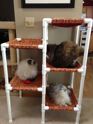 Auntie Em's Cat Tower | Madame Purl                                                                                                                                                                                 More