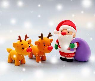Air Dry Clay Tutorials: Cute Santa and Reindeer