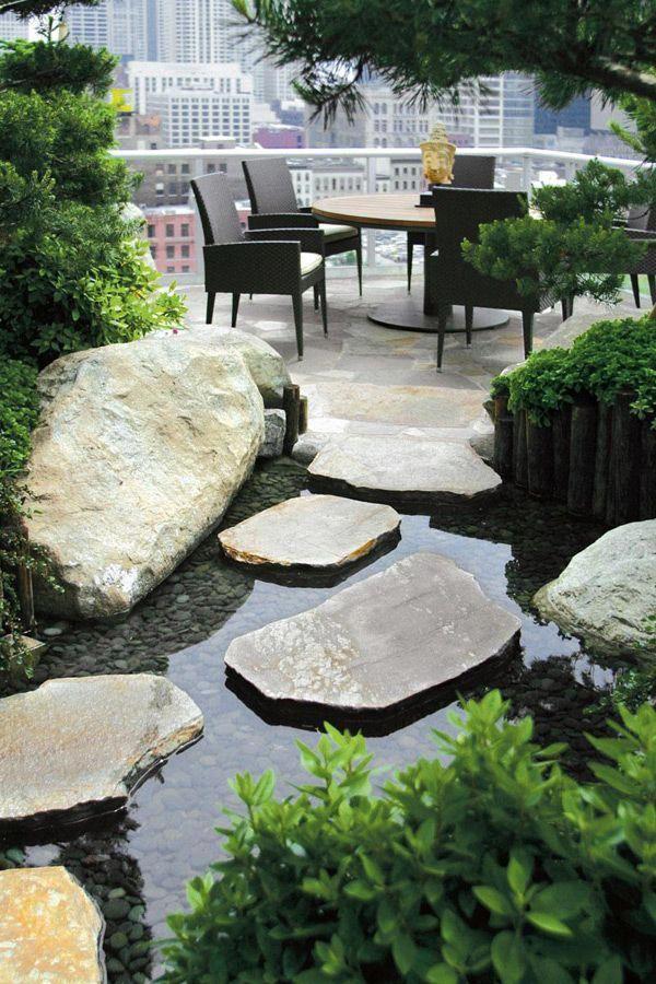 Japanese Gardening Moderne Landschaftsgestaltung Patio Garten