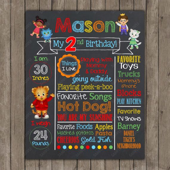 Daniel Tiger's Neighboorhood Chalkboard Party  by PeriwinklePapery