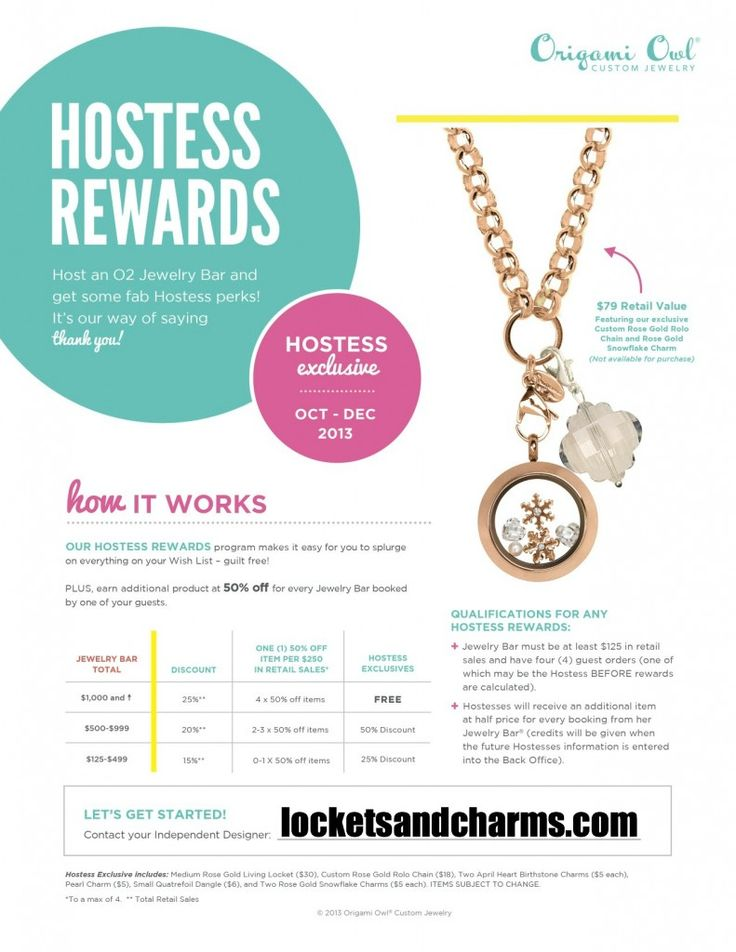 2015 Origami Owl Winter Hostess Exclusive Contact Me To
