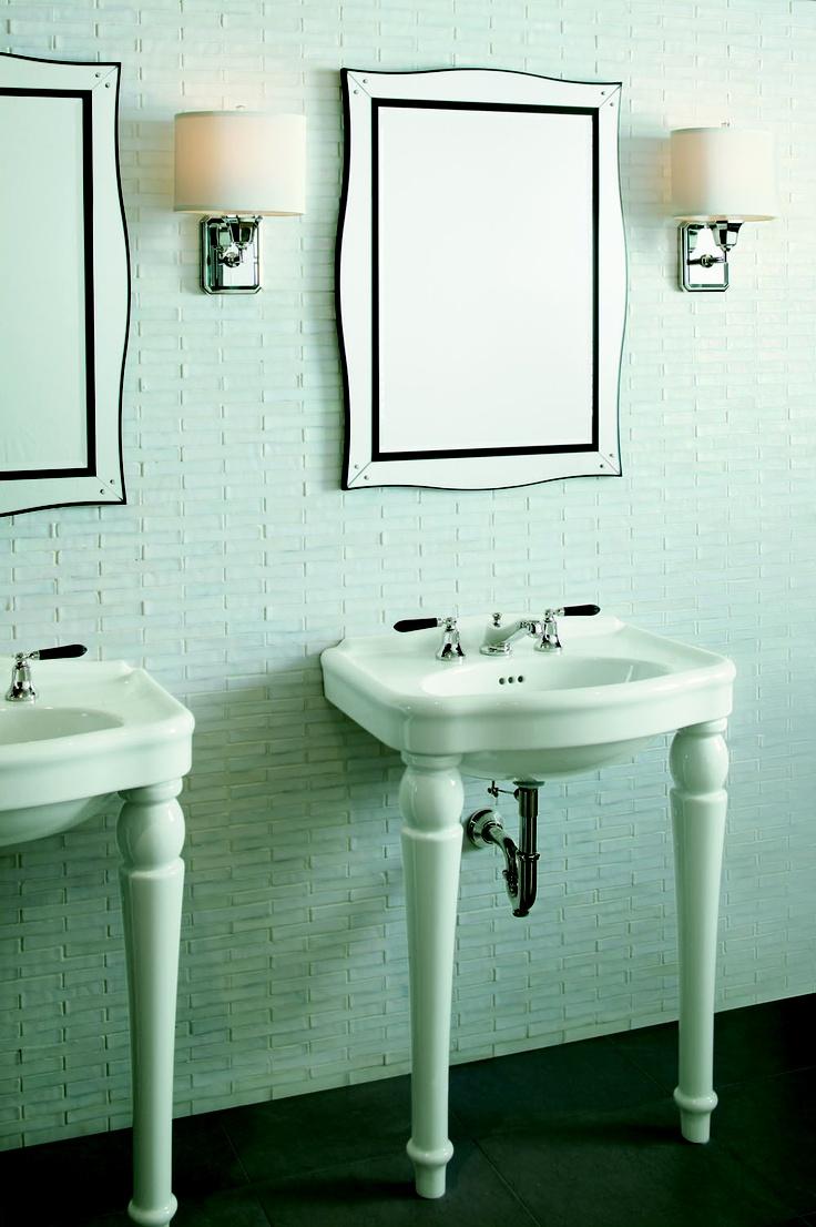 a modern bathroom with a classic touch glamour by barbara barry kallista kallista