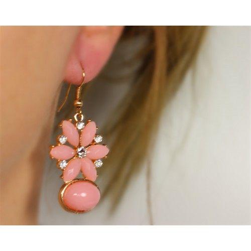 Náušnice Henlay Pink | Womanology.sk #earrings #fashionjewelry #fashionjewellery #costumejewelry #costumejewellery #bijouterie #bijoux #fashion #style #accessories