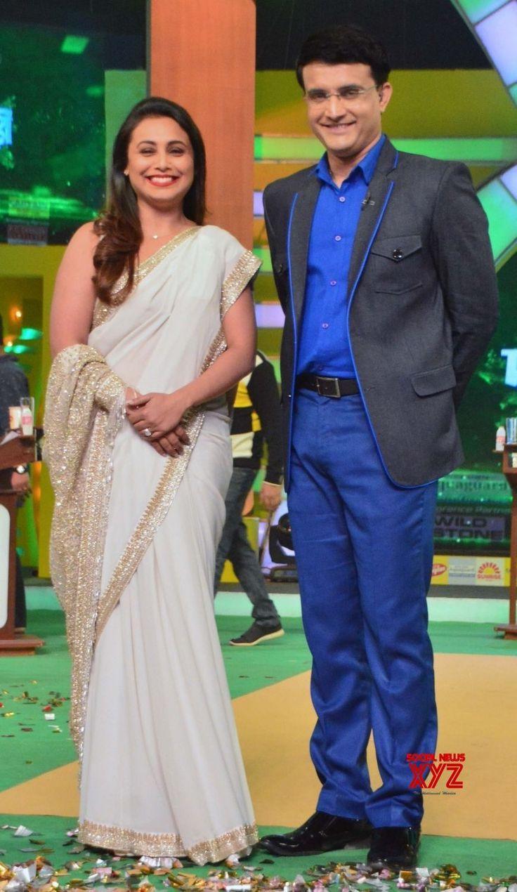 Kolkata: Rani Mukerji, Sourav Ganguly during a promotional programme - Social News XYZ