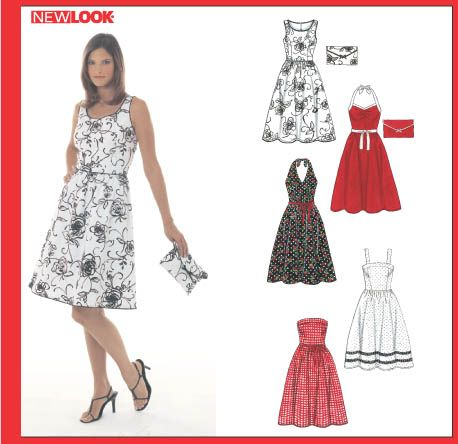 New Look 6457 - Misses' Dresses and Purse