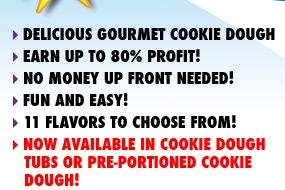 Earn Up To 80% Profit With The ABC Fundraising® Cookie Dough Fundraiser - http://www.abcfundraising.com/cookie-dough-fundraiser.htm