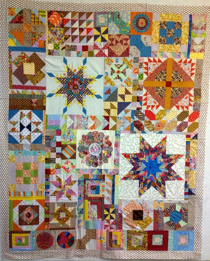 Palace Jewels - a modern take on a Sampler Quilt.