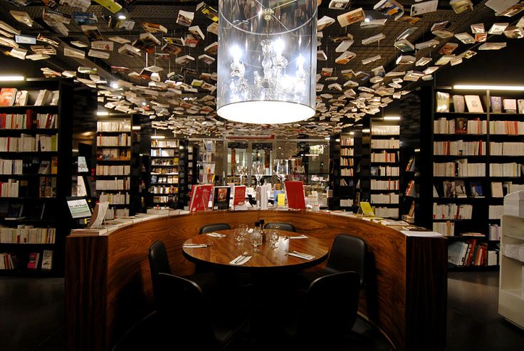 Cook & Book is a unique cafe/restaurant-bookshop, divided in 9 rooms, each with a different selection of books. Located in Brussels, Belgium.