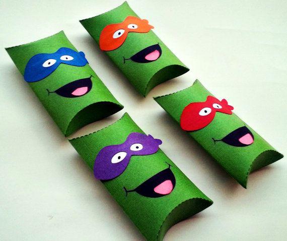 Ninja Turtles Pillow Treat Boxes Set of 12 by BBGPartyDesigns, $12.99
