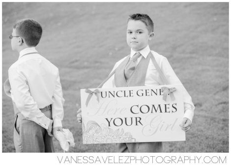 Cute way to announce the bride's arrival. Destination Wedding | El Conquistador Resort & Las Casitas Village | Puerto Rico | ElConResort.com Vanessa Velez Photography