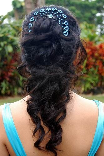 prom hair idea, without the heart things at the top. maybe just a sparkly pin on the side of it