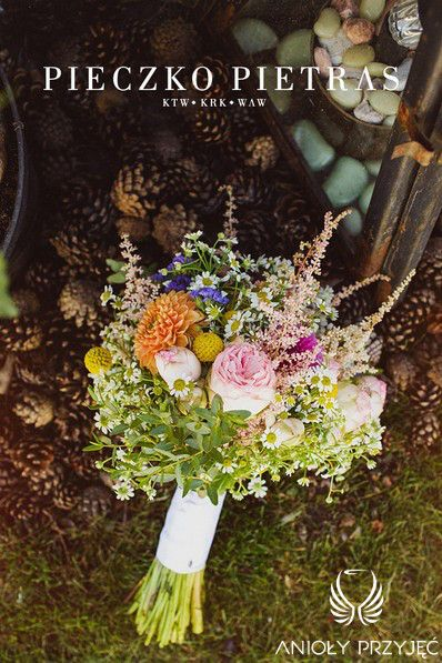 20. Electrical Wedding,Rustic,Bride's bouquet,English roses,Astilbe,Dahlia / Elektryczne wesele,Rustykalne,Bukiet Panny Młodej,Anioły Przyjęć
