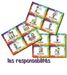 Le tableau des responsabilités