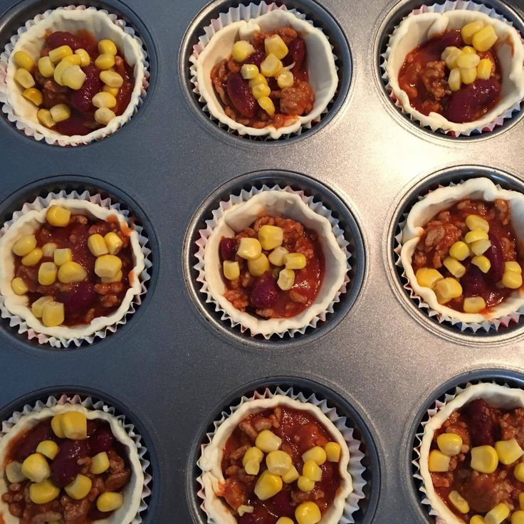 Chili con Carne Muffins Anleitung
