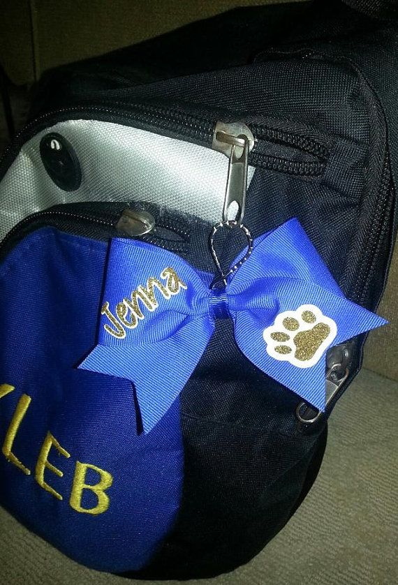 Custom Cheer Bow Keychain via Etsy