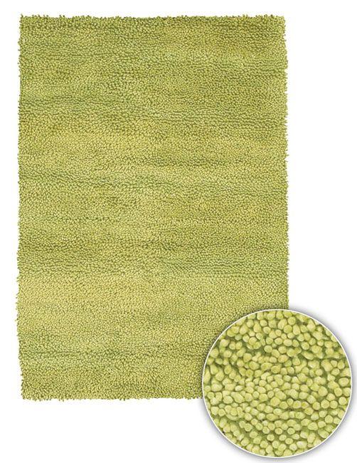 Artist's Loom Hand-woven Ani Lime- Shag Rug