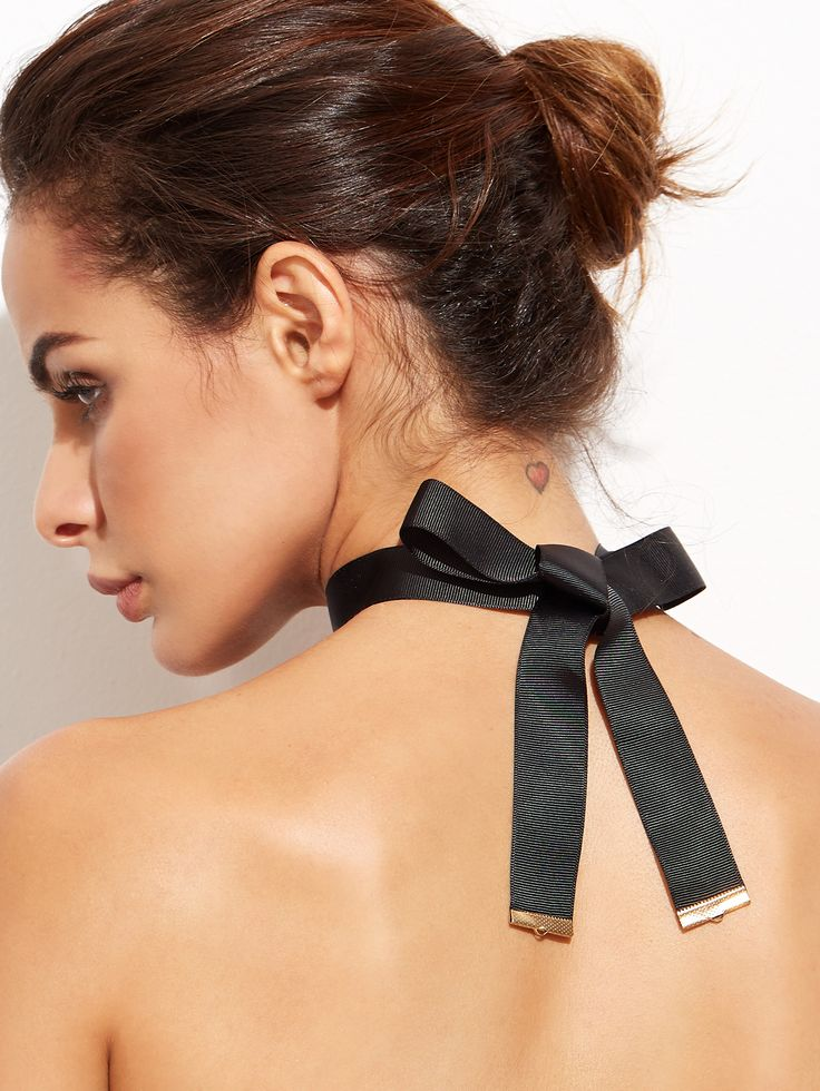 Shop Black Ribbon Bow Tie Choker Necklace online. SheIn offers Black Ribbon Bow Tie Choker Necklace & more to fit your fashionable needs.