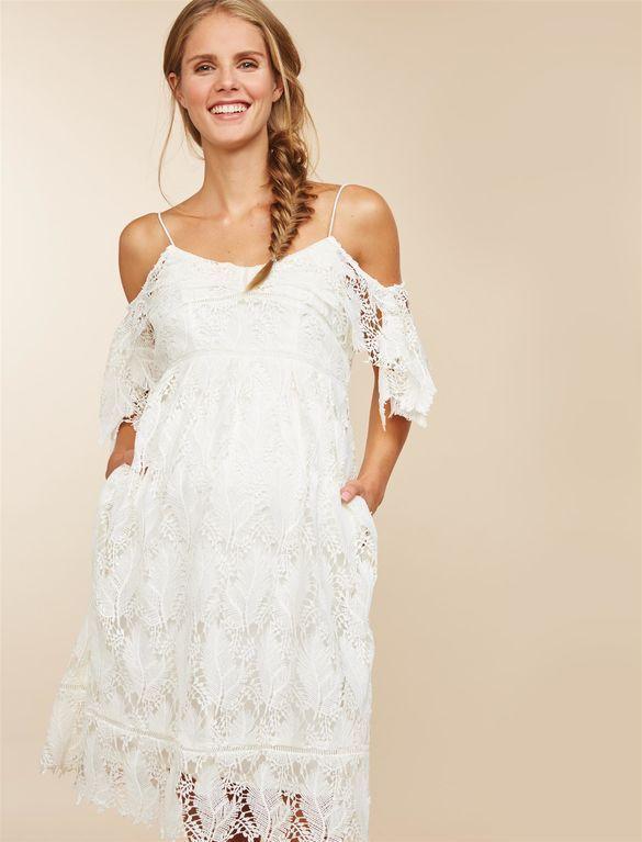 White Cold Shoulder Dress Outfit Ideas Kadininmodasi Org Lace Maternity Dress Short Maternity Wedding Dresses Maternity Dresses