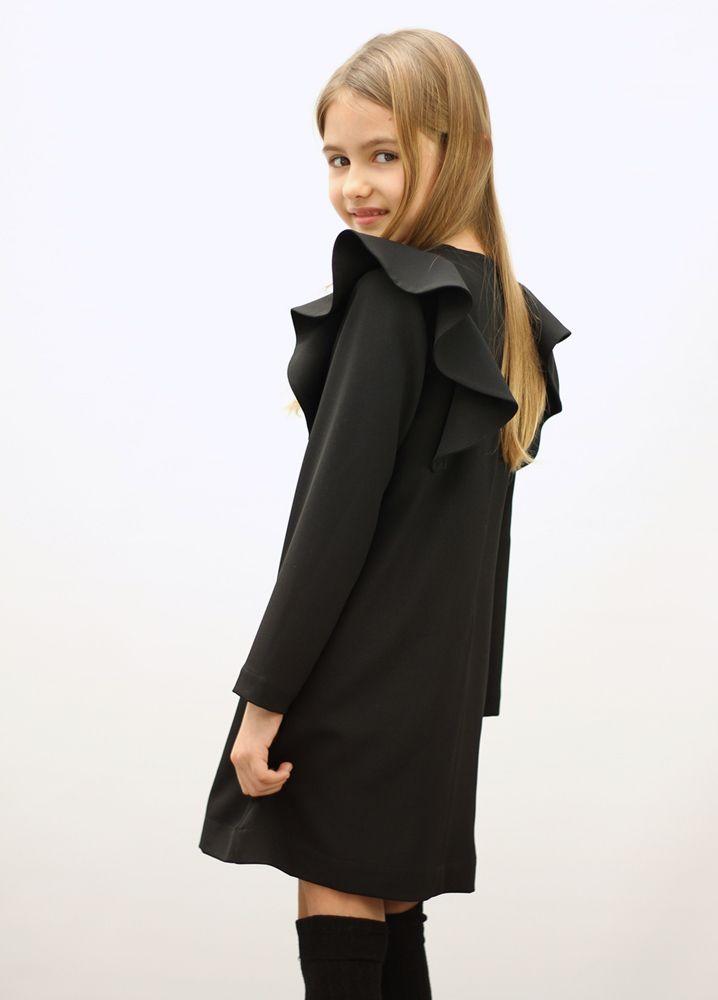 Manuela dress in black #MOTORETA AW14 #lookbook #kids
