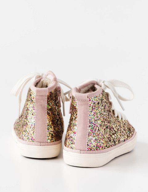 Glitter High Tops 54039 Trainers & Plimsolls at Boden
