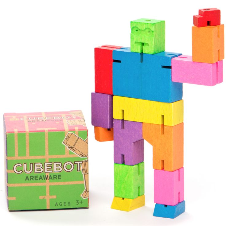 The ultimate robot toy! No plastic involved and no batteries required for this little robot!  Inspired by the Japanese Shinto Kumi-ki puzzles, the Cubebot is a non-traditional take on the toy robot by joining Japanese traditions with contemporary toy culture! Hours of entertainment and educational play right here!  Cubebot's powerful hardwood frame can hold many poses, and his elastic-band muscles and durable muscles. #littlebooteekau #kidsgifts #educationalplay #toyrobot #puzzles