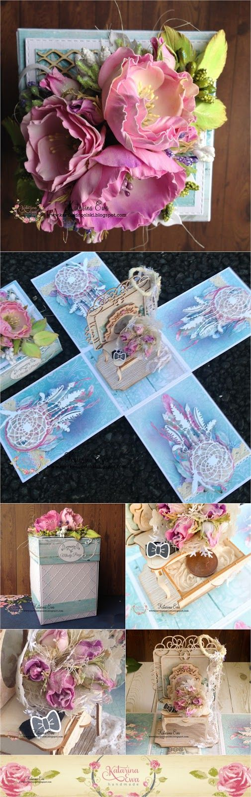 209. Bohoo wedding exploding box with dream catchers - a must see