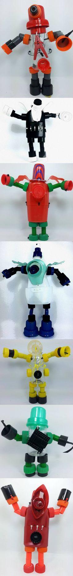 Seu filho adora montar robôs? Olha aqui algumas ideias interessantes e fáceis de fazer, utilizando material reciclável. Agora você pode passar muito tempo se divertindo com o filhote! ;)