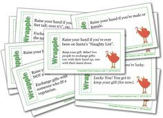 Wrapple Christmas Gift Exchange Game, Adult and Office Christmas Party Games | Printable Party Games