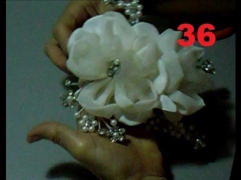 AULA 36: ARRANJO DE FLORES COM PÉROLAS E STRASS PARA CABELOS DE NOIVA ❤ https://www.youtube.com/watch?v=3S92Z4ye82w