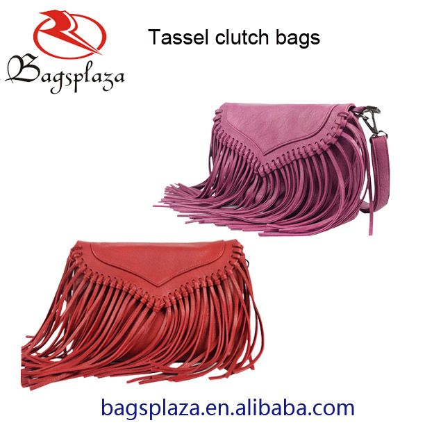 Fringed Leather Clutch Bags https://lnkd.in/bAqZnP3