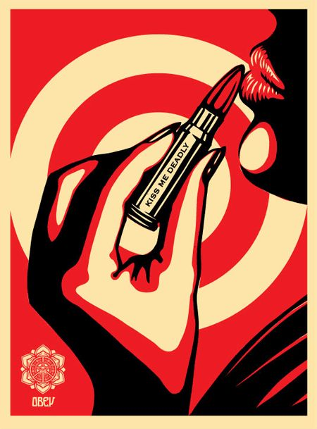 Kiss Me Deadly / Shepard Fairey via obeygiant.com