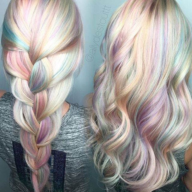 It's officially #June which means there's no better time for opalescent #mermaidhair like this color by @allydestouttt! ✨