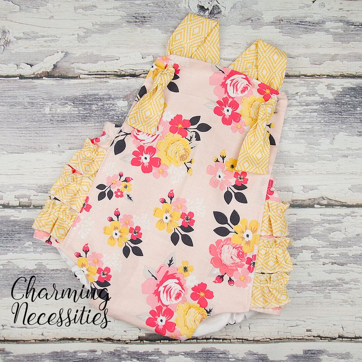 Penelope Ruffled Romper - Baby Toddler Girl Spring Easter Outfit - Charming Necessities