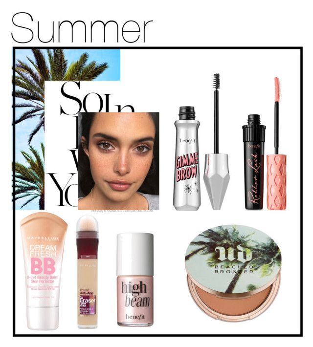 """Summer makeup"" by kiwijulin on Polyvore featuring beauty, Maybelline, Urban Decay and Benefit"