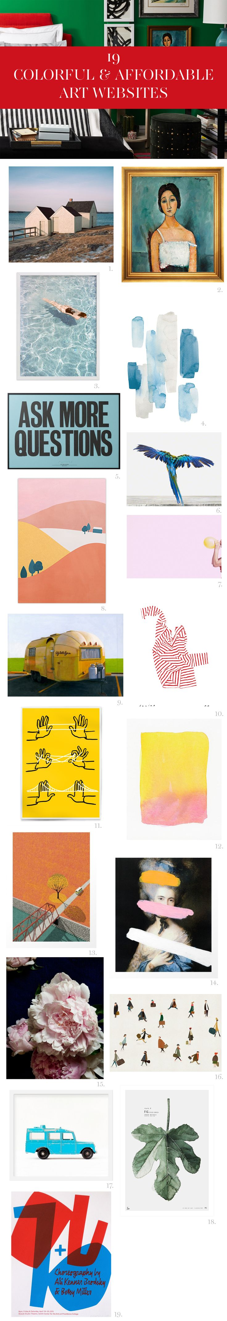 19 Colorful & Affordable Art Websites | Bright.Bazaar | Bloglovin'