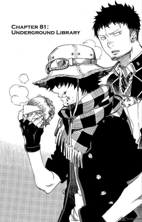 "Lewin Light and Ryuji ""Bon"" Suguro   Ao no Exorcist   Blue Exorcist   Chapter 81"