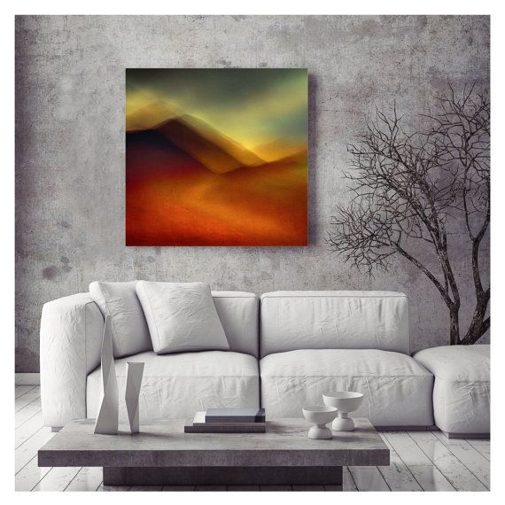 Extra Large Art - Dramatic Art - Abstract art - Large Art - loft art  - Scottish Mountains - oversized art - READY TO HANG