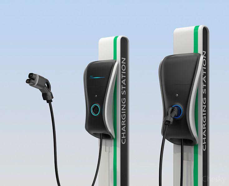 EV charging station on Behance