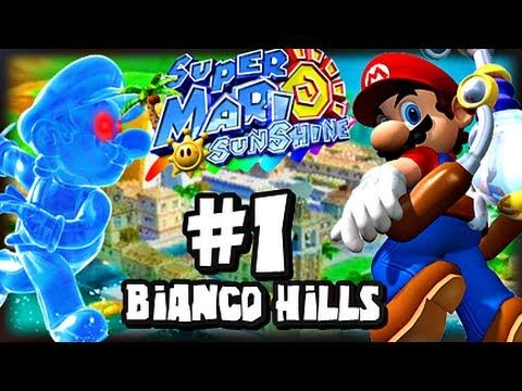 Super Mario Sunshine (1080p) - Part 1 - Bianco Hills - YouTube