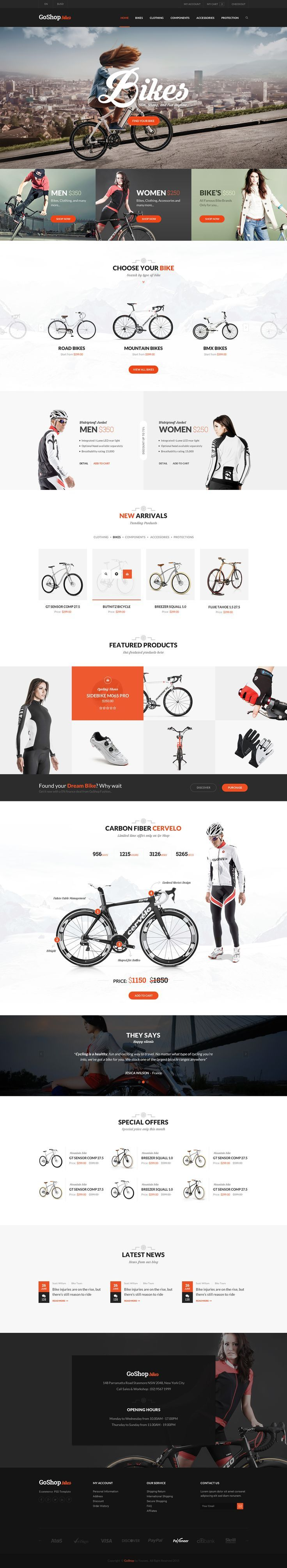 Go Shop Ecommerce PSD Template on Web Design Served. If you like UX, design, or…