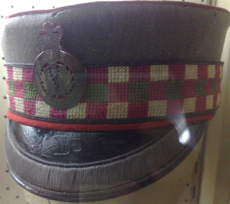 Queensland Scottish Officer cap with unofficial badge - circa 1890s