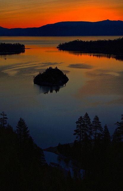 Magic Hour in Emerald Bay, Lake Tahoe, California