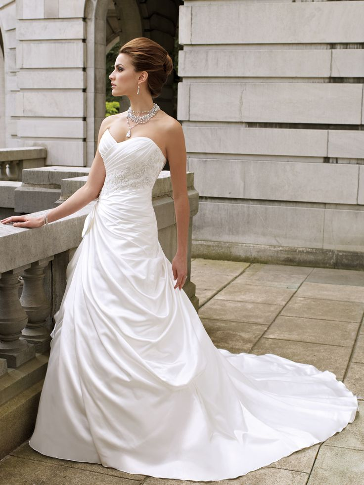 286 best wedding brides maids maid of honor flower girl for Removable skirt wedding dress davids bridal