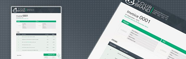 Template for Invoice Layout