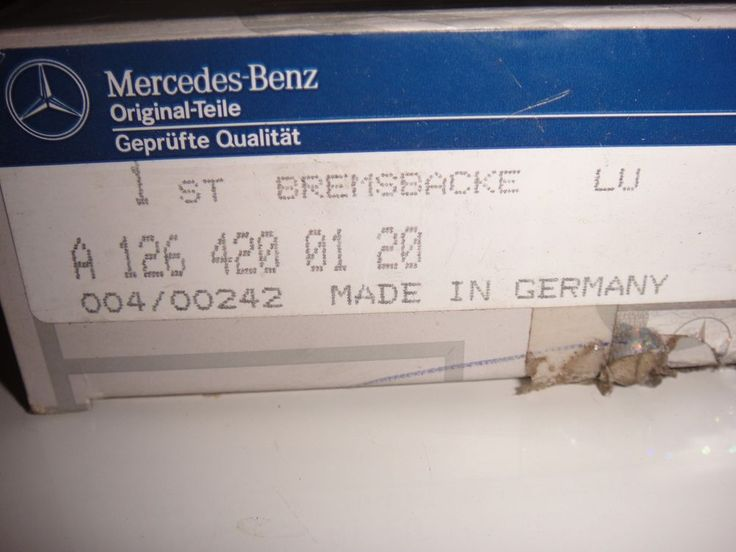 Bremsbacken LU für Mercedes Benz 200 D Oldtimer Original Ersatzteil A1264200120