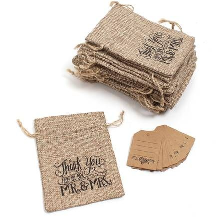 Happily Ever After Hessian Drawstring Bags 20 Pack | Hobbycraft