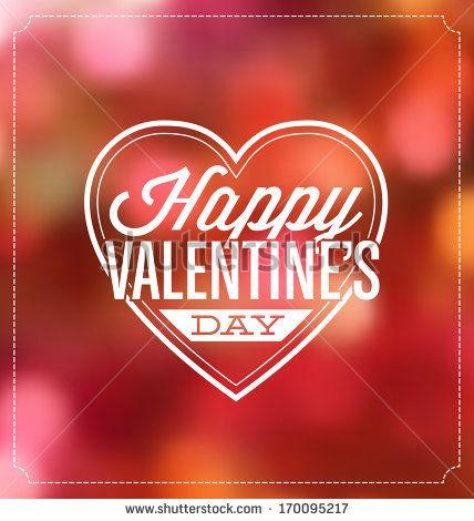Typographic Valentines Greeting Card by Vilmos Varga, via Shutterstock