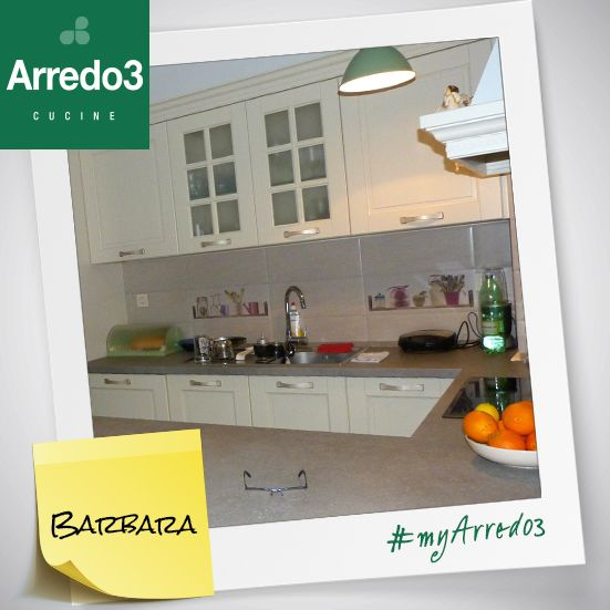 "Look at this #myArredo3: Barbara's modular kitchen!  ""I am very, very happy with my beautiful new kitchen..."" Thank you Barbara!"