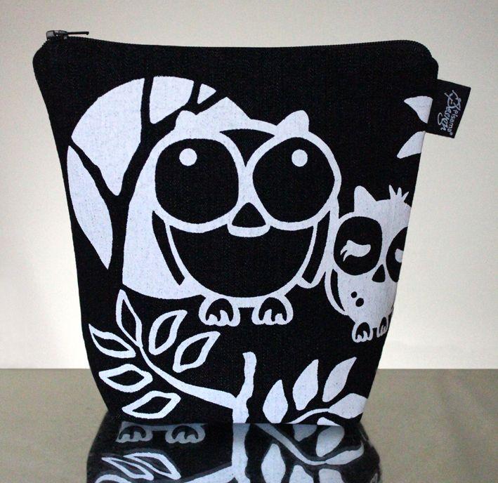 Headwing -meikkilaukku // Headwing make-up bag (Design by Pisama Design) #pöllö #owl