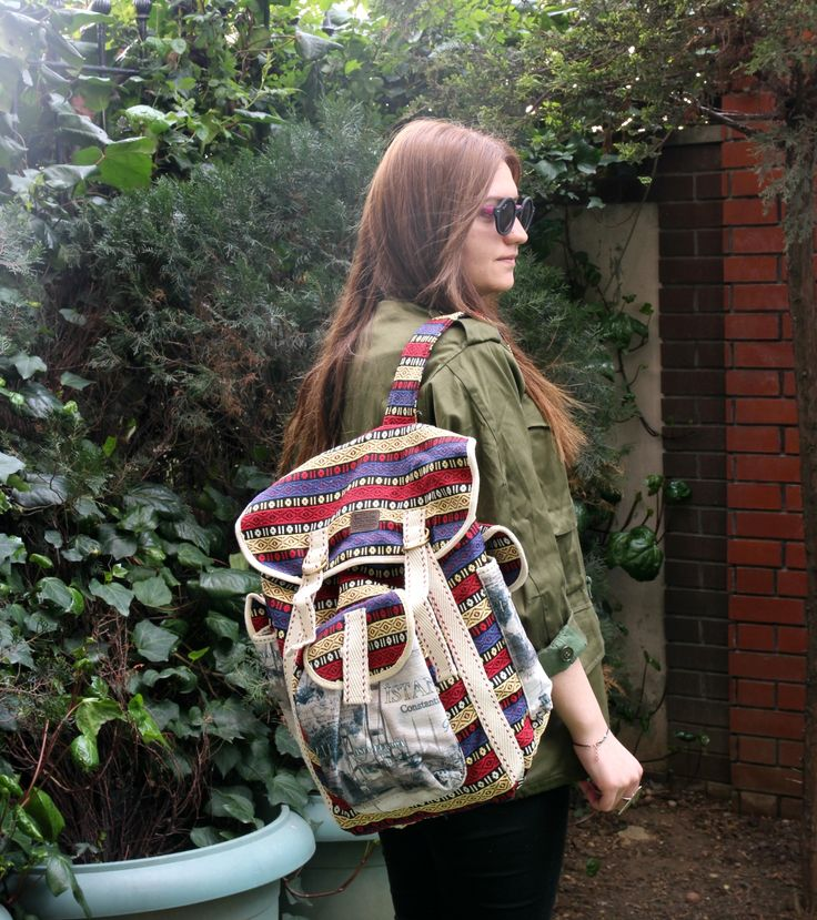 Kilim Backpack by www.grandbazaarshopping.com or on Etsy, GrandBazaarShop